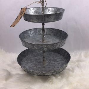 Other - Galvanized Metal Three Tiered Stand